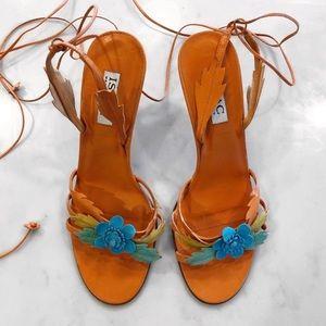 [Isaac Mizrahi] Italy Leather Tie Sandals